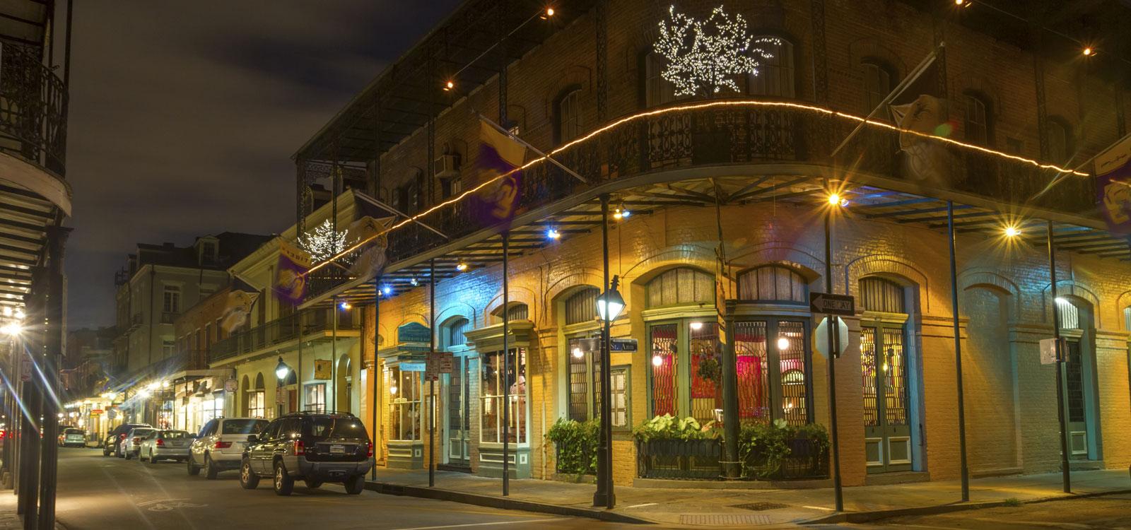 Bourbon Street at New Orleans