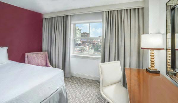 Two Queen Beds with view at Astor Crowne Plaza - New Orleans French Quarter